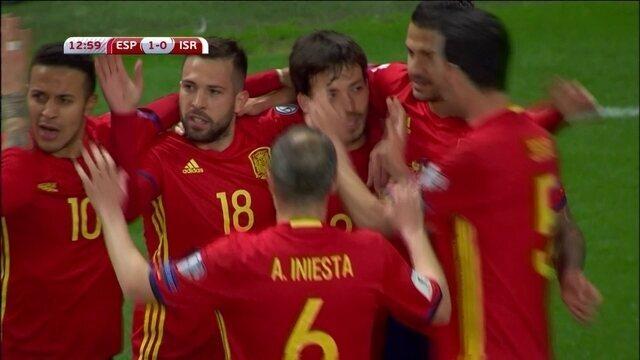 Os gols de Espanha 4 x 1 Israel pelas Eliminatórias da Copa do Mundo 2018