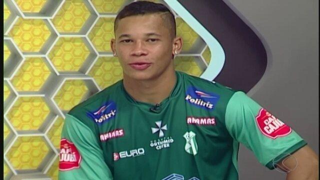 Autor de gol do empate, Caio Dantas fala de partida contra o Cruzeiro