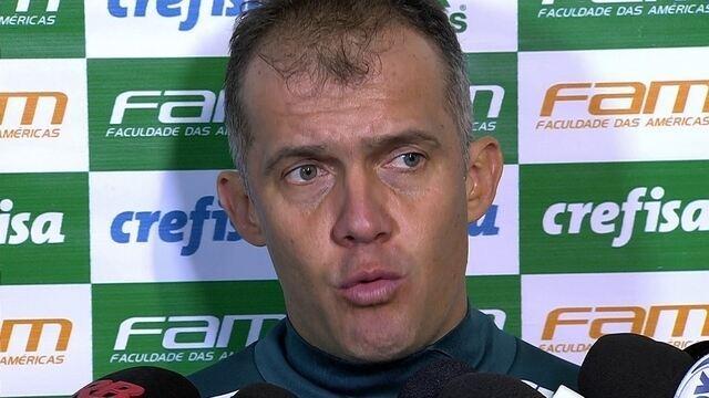 Veja a coletiva de imprensa do técnico Eduardo Baptista, do Palmeiras