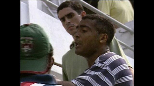 Romário briga com torcedores do Fluminense nas Laranjeiras