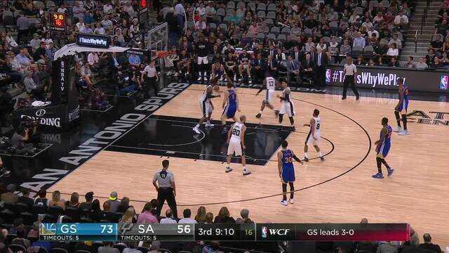 Melhores momentos: Golden State Warriors 129 x 111 San Antonio Spurs pelos playoffs da NBA
