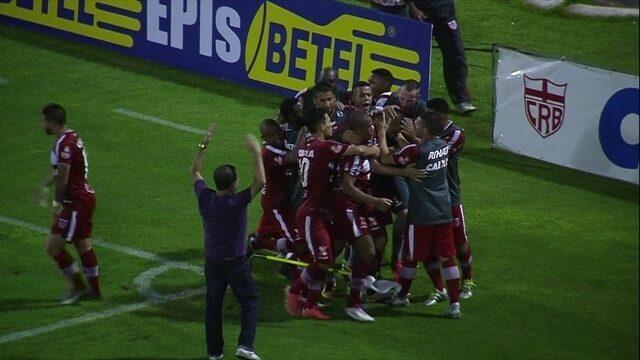 Os gols de CRB 1 x 0 Santa Cruz pela 3ª rodada da série B do Campeonato Brasileiro