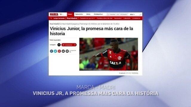 Fernando Kallás comenta a repercussão da contratação de Vinicius Junior pelo Real Madrid