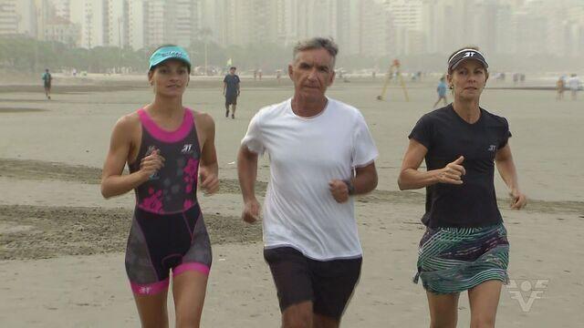 Família de Santos compete no Iron Man de Florianópolis