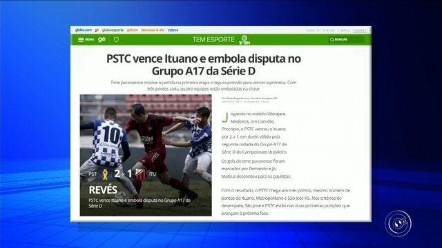 PSTC vence Ituano e embola disputa no Grupo A17 da Série D