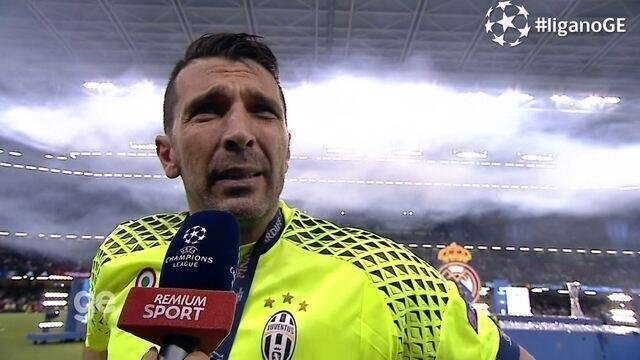 Buffon fala sobre a derrota para o Real Madrid na final da Liga dos Campeões
