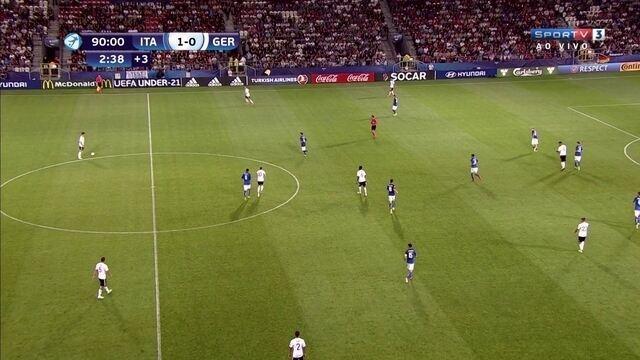Com classificação garantida,Alemanha e Itália tocam bola sem ofensividade na Euro sub-21