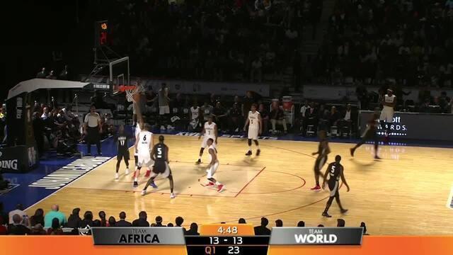 Confira os melhores momentos entre o time África e o time mundo na NBA