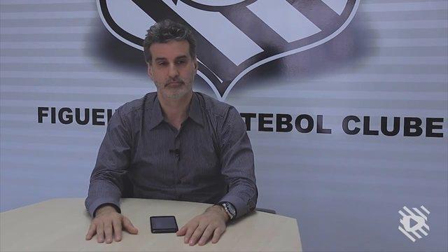 CEO do Figueirense Alex Bourgeois fala sobre fase ruim e promete evitar queda