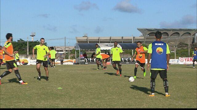 Jonas ansioso para fazer a sua estreia com a camisa do Botafogo-PB na Série C