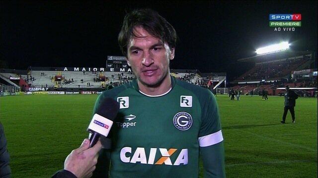 Matheus Ferraz lamenta gols sofridos pelo Goiás