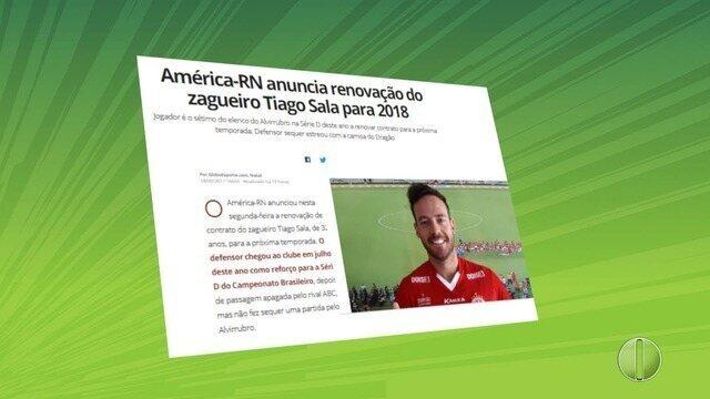 América-RN anuncia sétimo reforço para nova temporada