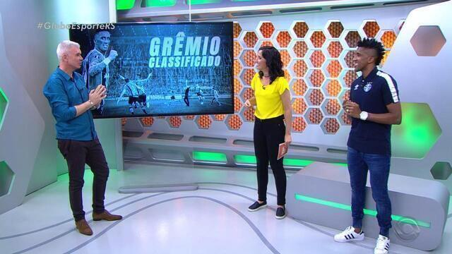 Ao lado de Bruno Cortez, Maurício Saraiva analisa classificação gremista na Libertadores