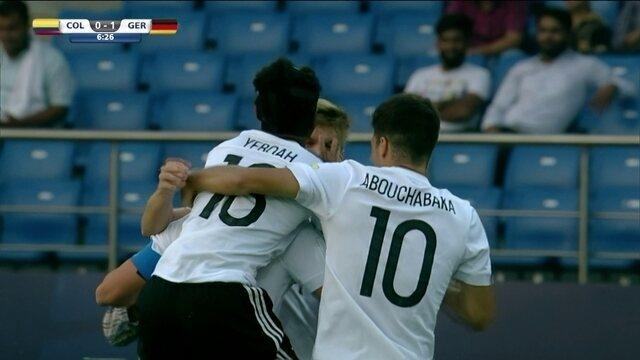 Os gols de Colômbia 0 x 4 Alemanha pelas oitavas de final do Mundial sub-17