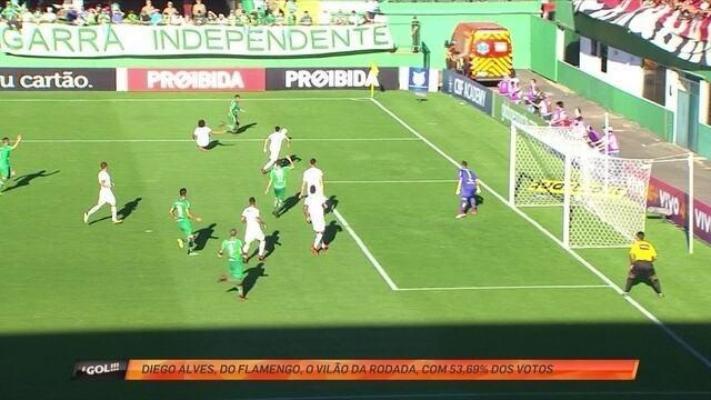 """Diego Alves, do Flamengo, faz defesaça e é eleito o """"vilão"""" da rodada"""