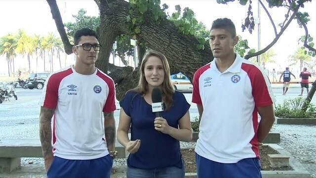 Edson e Vinícius, meias do Bahia, comentam evolução do time com Carpegiani