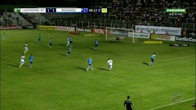 Luverdense para no bloqueio do Paysandu, empata no Passo, e permanece no Z-4 da Série B