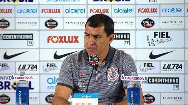 Veja um trecho da entrevista coletiva de Fábio Carille, técnico do Corinthians