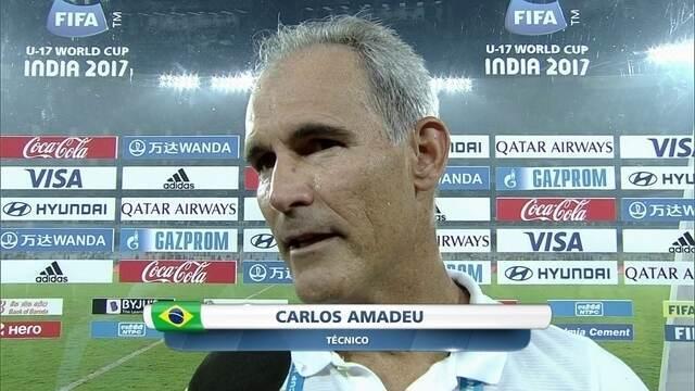 """Após virada, Carlos Amadeu fala sobre fato de seleção nunca desistir: """"Me deixa arrepiado"""""""
