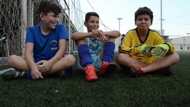 Boleiros mirins falam de gírias do futebol
