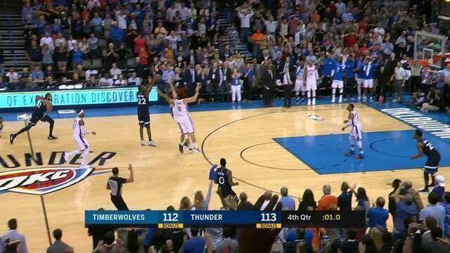 Melhores momentos de Minnesota Timberwolves 115 x 113 Oklahoma City Thunder pela NBA
