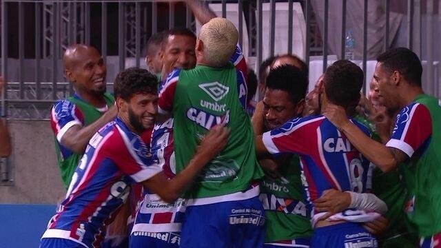 Os gols de Bahia 3 x 1 Santos pela 35ª rodada do Brasileirão