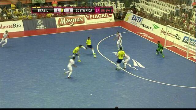Veja o gol de Daniel Feitosa contra a Costa Rica, o primeiro com pela seleção brasileira