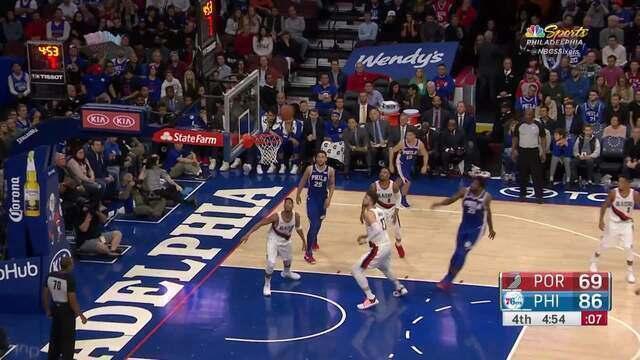 Melhores momentos: Philadelphia 76ers 101 x 81 Portland Trail Blazers pela NBA