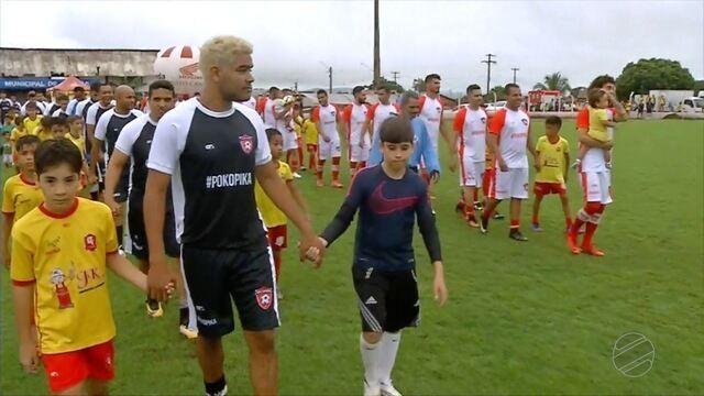 Valdívia, do Atlético MG e Brenner, do Botafogo realizam jogo beneficente em Jaciara