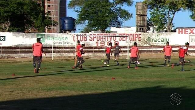 Em pré-temporada, Sergipe realiza treino físico no estádio João Hora