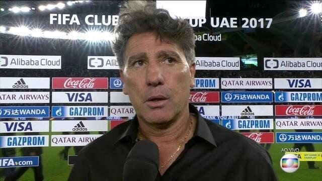 Renato Gaúcho fala que jogadores o deixaram com orgulho e saem de cabeça em pé