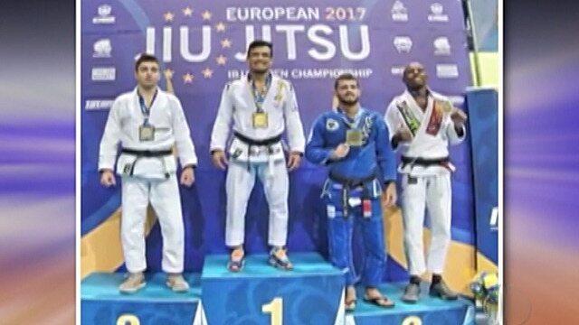 Gabriel Marangoni de Mogi luta no Campeonato Europeu de Jiu-Jitsu em Lisboa
