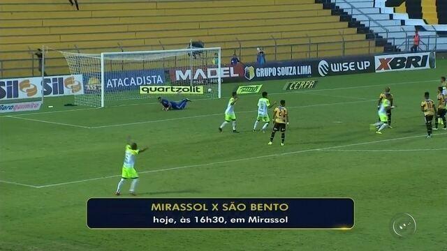 Mirassol recebe o São Bento e tenta se recuperar após estreia com derrota
