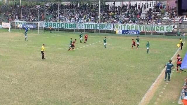 Veja o primeiro tempo de Flamengo x Palmeiras pela Copa Brasil Infantil