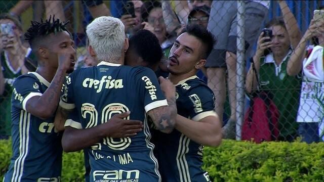 Os gols de Mirassol 0 x 2 Palmeiras pela 6ª rodada do Campeonato Paulista 2018