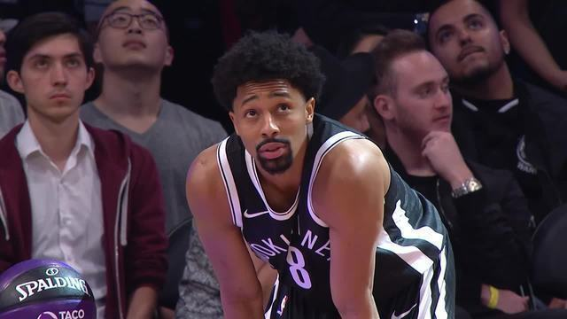 Spencer Dinwiddie, do Brooklyn Nets, vence o desafio de habilidades do All-Star Game