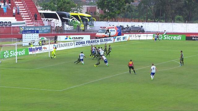 Veja os gols de Foz 1 x 1 Coritiba pela semifinal do Paranaense