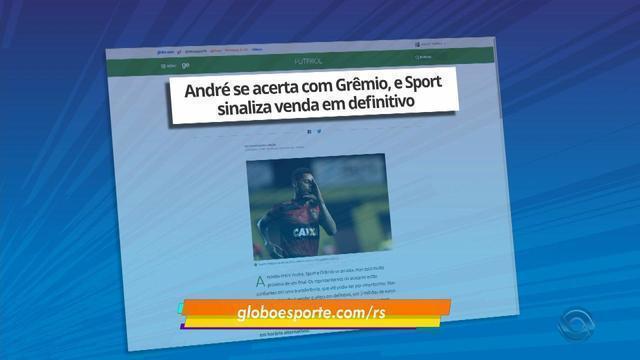 André se acerta com Grêmio e time deve fazer proposta definitiva ao Sport