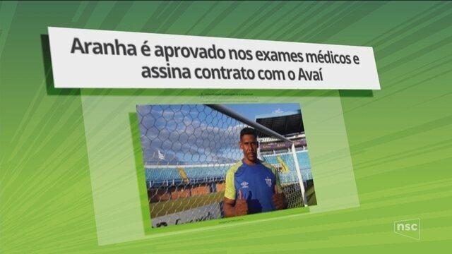 Goleiro Aranha passa nos exames médicos e assina contrato com o Avaí