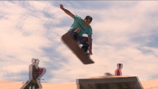 Sandboard é praticado por campeões em Florianópolis