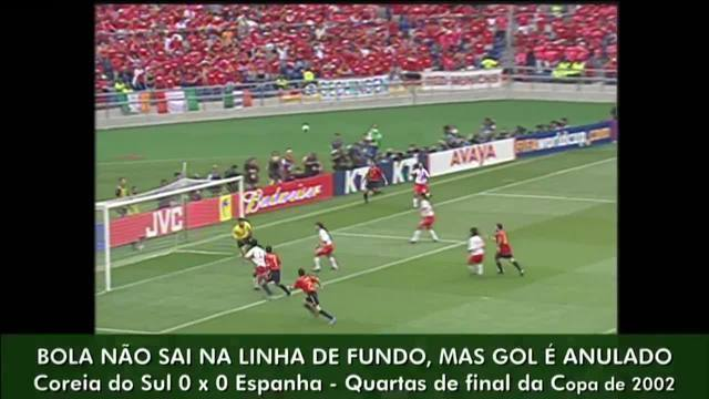 Erros de arbitragem: Morientes tem gol mal anulado em 2002 contra a Coreia do Sul