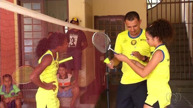 Equipe de badminton de Porto Nacional treina para o Mundial Escolar na Índia