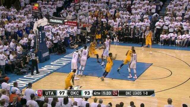 Melhores momentos: Utah Jazz 102 x 95 Oklahoma City Thunder pelos playoffs da NBA