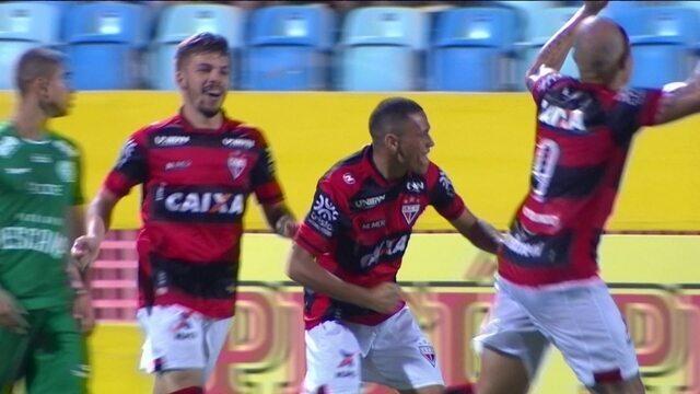 Os gols de Atlético-GO 3 x 2 Guarani pela 3ª rodada da Série B 2018