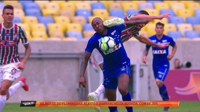 Voadora de Gilberto para cima de Sassá é o garrancho da rodada do Brasileirão no É Gol!!!