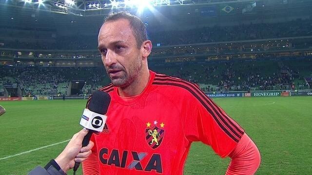 Magrão festeja boa atuação em vitória do Sport sobre o Palmeiras