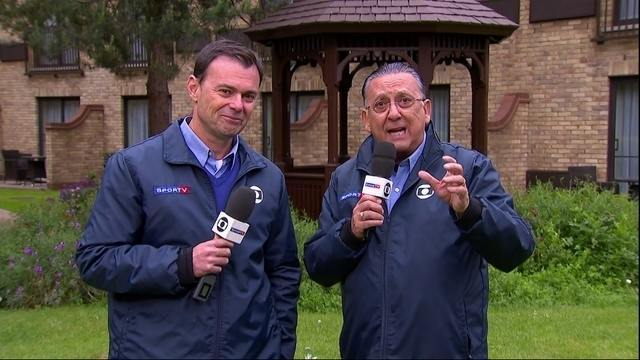Direto da Inglaterra, Galvão Bueno e Tino Marcos falam sobre dias da Seleção antes da Copa