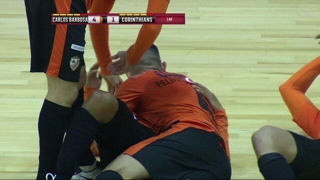 Os gols de Carlos Barbosa 4 x 1 Corinthians pela Liga Nacional de Futsal