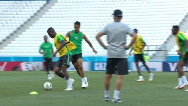Nigéria realiza treino visando jogo contra Islândia pela segunda rodada da Copa do Mundo