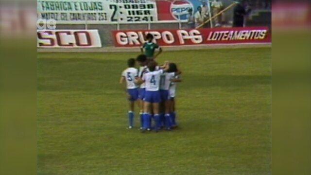 Primeira vitória do São Bento contra Palmeiras no estádio Walter Ribeiro aconteceu em 1979